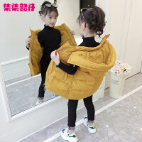 儿童连帽马甲外套2018秋冬新款韩版中大童棉衣冬季中长款女孩