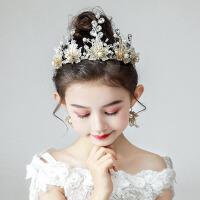 小孩金色舞台演出韩版走秀发饰儿童皇冠头饰公主女童王冠发箍