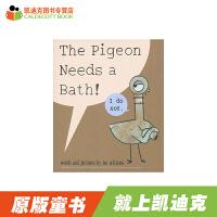 # 英国进口 凯奖得主幽默绘本大师Mo Willems 莫・威廉斯经典作品 鸽子系列之鸽子要洗澡 The Pigeon