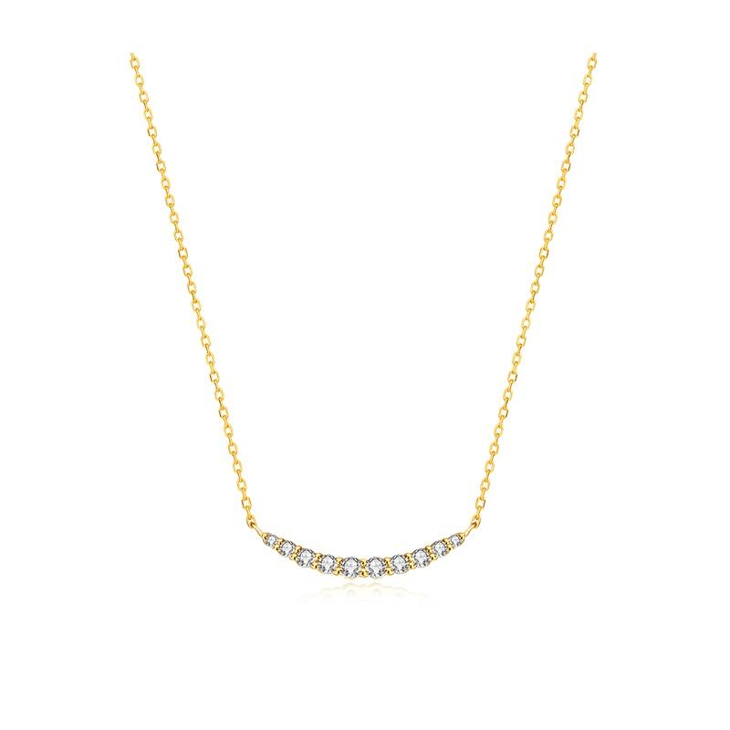 【9.23网易严选大牌日 爆款直降】你的微笑 K金项链 微笑弧度设计,甜美时尚。