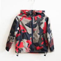 男童加绒外套儿童春装韩版男小童2019新款宝宝迷彩洋气春季风衣潮