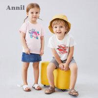 安奈儿童装男女童T恤薄2020夏季新款超级飞侠洋气宝宝T恤圆领短袖3
