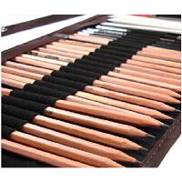 马可素描套装 铅笔+笔帘+橡皮等初学美术绘画工具9件套装 马可素描套装