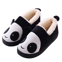 冬季儿童棉拖鞋包跟男宝宝1-3岁可爱毛毛家居棉鞋