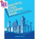 【中商海外直订】Beautiful Cities Coloring Book: Beautiful Sights fr