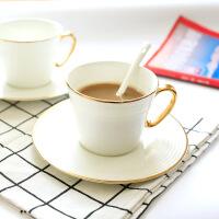 骨瓷咖啡杯套装欧式下午茶茶具咖啡具家用茶具套装红茶杯 包金汉斯杯碟勺