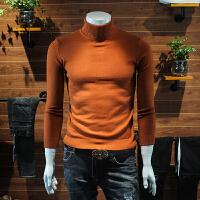 冬季高领毛衣男线衫纯色男装套头毛衫韩版潮流帅气打底针织衫线衣