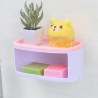 创意双层多用免打孔肥皂架浴室沥水肥皂盒卫生间香皂架壁挂置物架