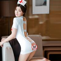 女套装 诱惑护士角色扮演制服含丁字裤女性感睡衣 77白色