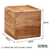 实木收纳凳家用储物凳多功能收纳箱子玩具杂物整理盒长方形换鞋凳 其他