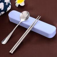 便携餐具套装筷子勺子日式户外餐具收纳盒304不锈钢学生旅游防滑
