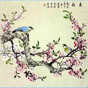 北京美协会员,北京市著名工笔画画家凌雪(春韵)