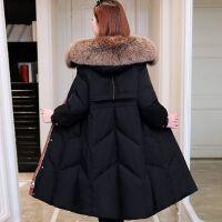 高端羽绒服女服大毛领中长款加厚收腰显瘦韩版羽绒服外套