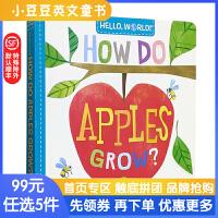你好科学小世界Hello, World! How Do Apple Grow 苹果生长幼儿百科纸板书