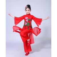 新款儿童古典舞古筝演出服扇子舞中国风少儿民族江南咏荷舞蹈服装