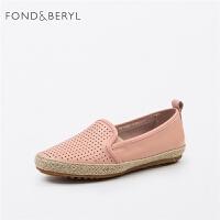 Fondberyl/菲伯丽尔商场同款羊皮舒适豆豆鞋FB71112020