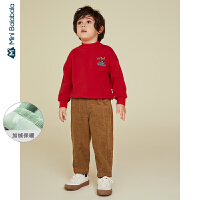 迷你巴拉巴拉儿童裤子男童长裤2019冬季新款宝宝宽松童装灯芯绒裤