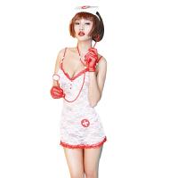 女士性感制服诱惑情趣内衣护士角色扮演套装情趣用品 11145 白色 均码