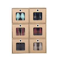 纸质透明鞋盒 抽屉式鞋柜鞋子收纳盒简易自由组合防尘鞋箱长靴子鞋盒家用 升级款 6个女高跟款