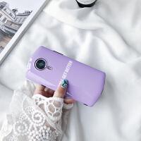 糖果紫色英文美图t8s手机壳m8/m6软壳v6全包苹果X女款潮iPhone7p v6 糖果紫色英文