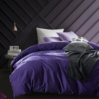 当当优品60贡缎长绒棉四件套-贵妇紫 适用于1.5-1.8床