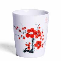 白瓷手绘功夫茶杯单个陶瓷茶具景德镇薄胎品茗杯子家用喝茶主人杯