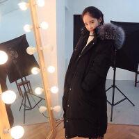 毛领羽绒服2019韩版潮女中长款过膝外套女冬款