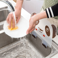 水池挡水板创意厨房小用品工具神器家用水槽防溅水隔水挡板 图片色