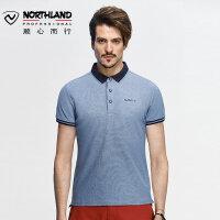 【顺心而行】诺诗兰春夏户外休闲T恤户外男运动潮流短袖Polo衫GL075B03