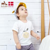 欧孕男女童T恤夏季婴幼儿短袖纯棉宝宝上衣个性可爱潮