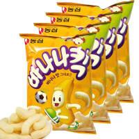 【包邮】韩国进口 农心香蕉脆果75g*4袋