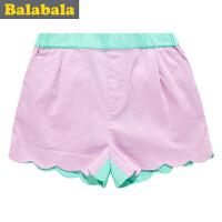 巴拉巴拉童装女童短裤中大童儿童女孩夏装