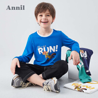 【2件4折�A估券后�r:69元】安奈�和��b男童T恤�棉2020新款迪士尼�和�洋�庑l衣秋��狂�游锍�