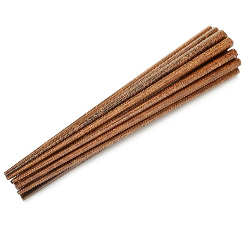 达乐丰 鸡翅木筷子日式筷子10双装225mm KZ008