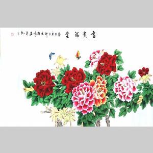 中国美协会员,龙云书画院院长侯桂峰工笔(牡丹)   5