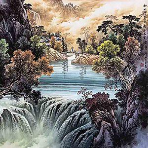 国家一级美术师,中美协常务理事,被业界称为长城画派第一人王大为(秋山宜落日)40