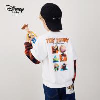 9.25超品返场【2.5折预估价:71.7元】迪士尼男童针织假两件圆领卫衣儿童时尚卡通卫衣潮