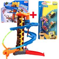 托马斯和朋友合金小火车旋转轨道套装CJP48儿童3岁男孩玩具 托马斯CJP48+海绵宝宝4辆装 一共5辆火车
