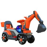 挖挖机儿童挖掘机可坐可骑1-4岁宝宝男孩滑行音乐工程车小孩挖土机 官方标配