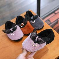 儿童棉鞋2018新款韩版冬季棉瓢鞋加绒豆豆鞋加厚女孩毛毛鞋
