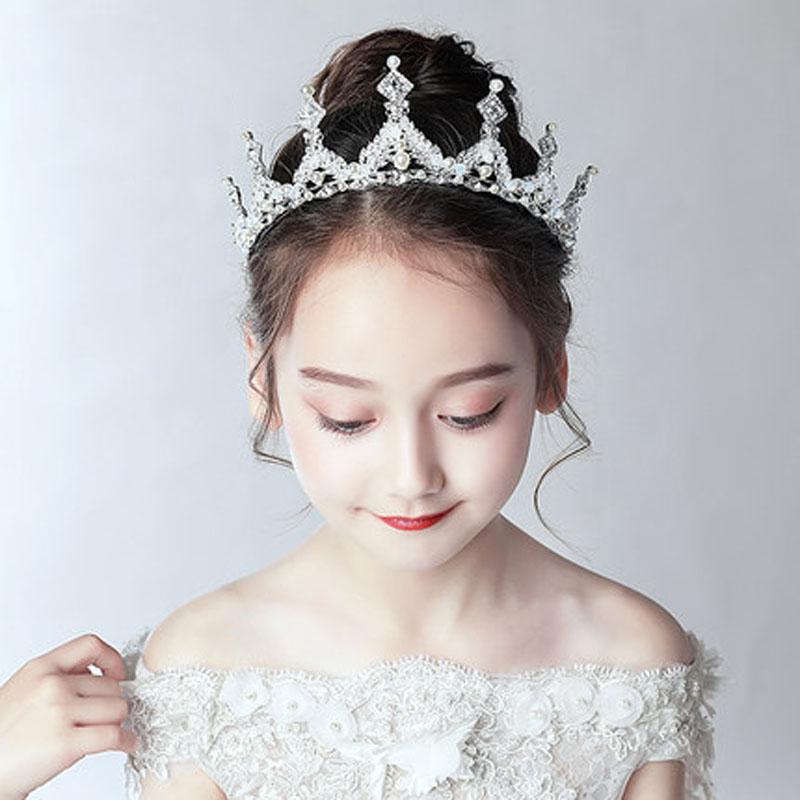 儿童小孩演出花童发饰皇冠头饰儿童公主女童王冠发箍