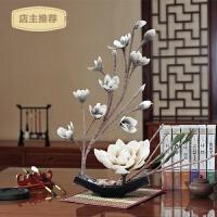 家用大玉兰花套装仿真花摆件假花PE花家居客厅茶几餐桌装饰花卉摆设SN6411