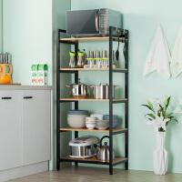 厨房置物架整理架储物柜梯形书架落地多层家用阳台收纳架简易铁艺