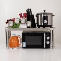 加厚不锈钢厨房置物架 微波炉架子落地货架单层收纳架厨具电饭煲锅架储物架烤箱架一层