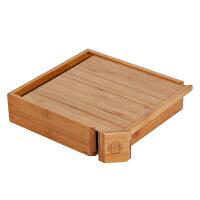 竹制典藏小茶仓普洱茶盒子收纳抽屉式通用存茶盒单层茶饼盒分茶盒
