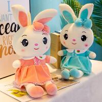 六一�和���Y物大�可�坌⊥米用��q公仔一�ν媾济��q玩具女孩布娃娃女生抱著睡�X兔兔安�嵬媾寂闼�