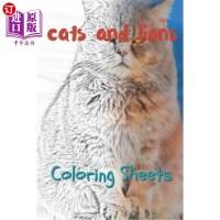 【中商海外直订】Cat and Lion Coloring Sheets: 30 Cat and Lion Drawi