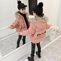 儿童棉衣2018新款冬季洋气女孩加厚外套童装棉服