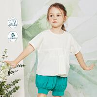 迷你巴拉巴拉女童短袖衬衫2020夏装新款儿童宝宝纯棉洋气小清新