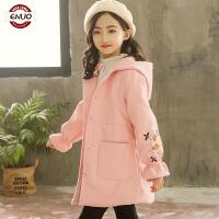 儿童秋冬季呢子外套2018新款韩版大童冬季加厚夹棉毛呢大衣女孩